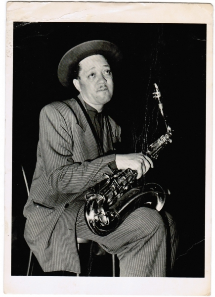 Lester Young by Phil Stern 1947