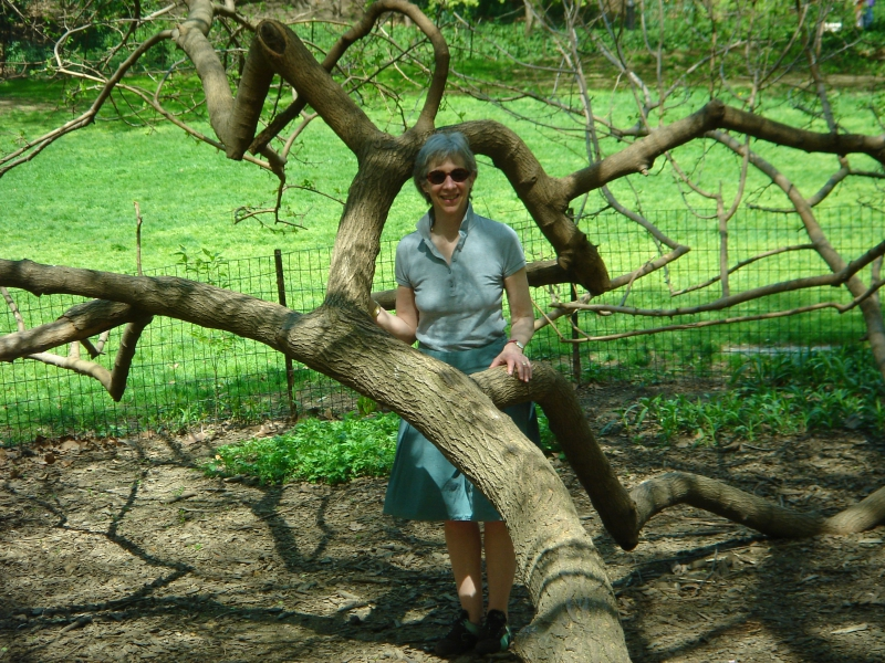 Susan Straub and Mully, the mulberry tree